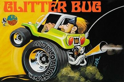 Dave Deal's Glitter Bug Hot Rod Dune Buggy skill 1 Revell plastic model kit#1740