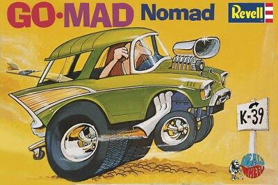 Dave Deal's Go-Mad Nomad Extreme Hot Rod skill 2 Revell plastic model kit#4310