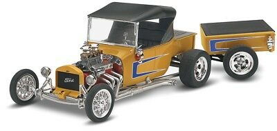 Ford T Street Rod w/Trailer 1/24 scale skill 2 Revell plastic model kit#4336