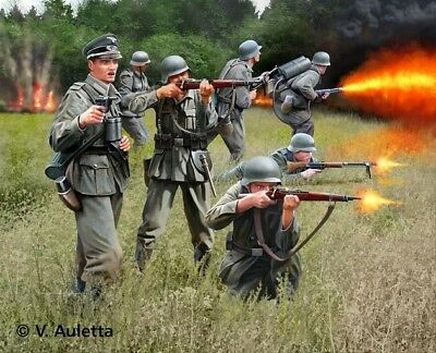 German Infantry WW2 Soldiers 1/32 scale Revell plastic model kit#2630