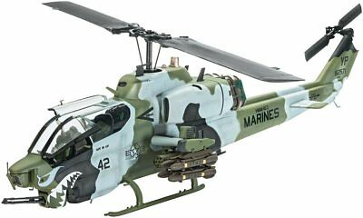 AH-1W SuperCobra US Marines Helicopter 1/48 scale skill 4 Revell model kit#4943