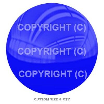 Premium Glossy Round 3D Epoxy Domed Decal Indoor Outdoor - Gloss Blue Top S202