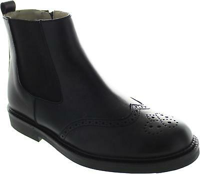 Start-rite Marlow Girl's Leather Chelsea School Ankle Wingtip Brogue Boots New