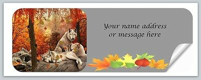 30 Personalized Return Address Labels Fall Autumn Buy 3 get 1 free (bo 933)