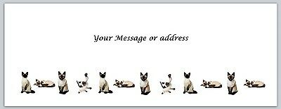 30 Personalized Return Address Labels Cats Buy 3 get 1 free (ct 252)