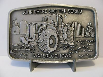 John Deere 8410  8000 Ten Series Tractor Pewter Belt Buckle 2000 Ltd Ed Waterloo