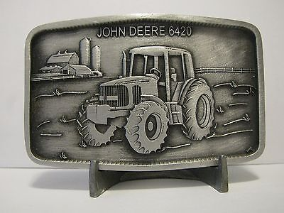 John Deere 6420 Tractor Pewter Belt Buckle 2001 Limited Ed Waterloo Operations