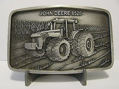 John Deere 8520 Tractor Pewter Belt Buckle 2001 Limited Ed Waterloo Operations
