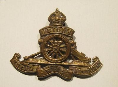 Royal New Zealand Artillery VF WWII Brass Cap Badge
