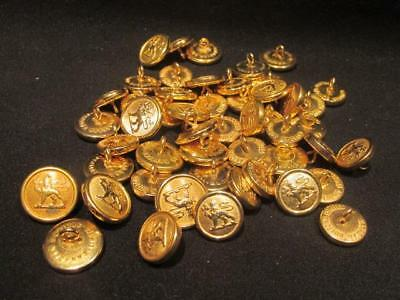 Canada Militia General Service Lot of 50 Brass Buttons 2 Different Sizes