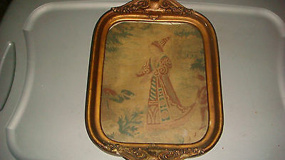 ANTIQUE CHINESE TEXTILE OF A MAGICIAN framed