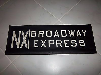 Vintage Collectible Nyc Subway Sign Nx Train Broadway Exp Bmt Ind Ny Roll Sign