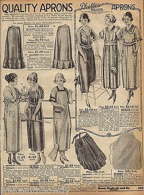 1920 PHILLIS LADIES APRON Aprons AD Vintage Women's Clothing Advertising