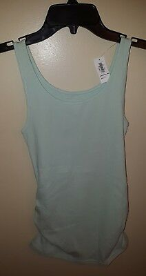 NWT Old Navy Women's Maternity XS Ribbed Tank Top MINT MIST GREEN Fitted #214717