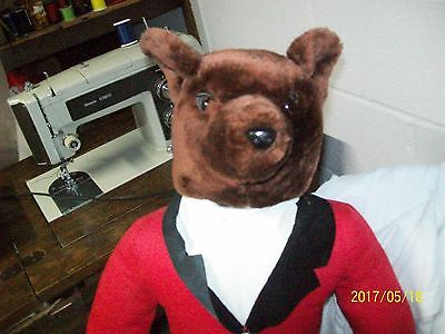 MALE FOX in Riding Habit/Clothes (Fox Hunt),VINTAGE,Stuffed, Sits on Shelf