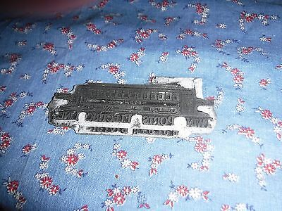 Antique Printing Block Metal  Twin Ports Electric Lines Duluth Division No Block