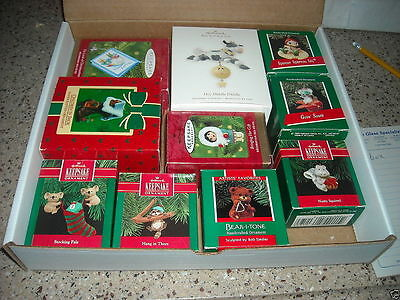 Lot Of 10 Hallmark Keepsake Christmas Ornaments Dated 1985 - 2008 Handcrafted