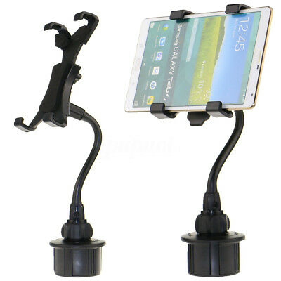 "Adjustable Car Cup Holder Mount For Apple iPad Samsung Galaxy 7""-10"" Tablet"