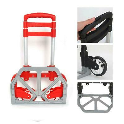 Portable Luggage Cart Heavy Duty Folding Roller Carts Carrier Foldable Shopping