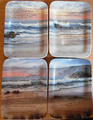 4 x Bradex China Plates - Footprints in The Sand Collection by Sharon Rickert