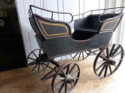 Antique Victorian childs carriage or cart