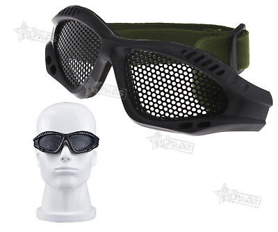 Shooting Tactical Airsoft Hunting Sand Metal Mesh Eye Protection Goggles Glasses