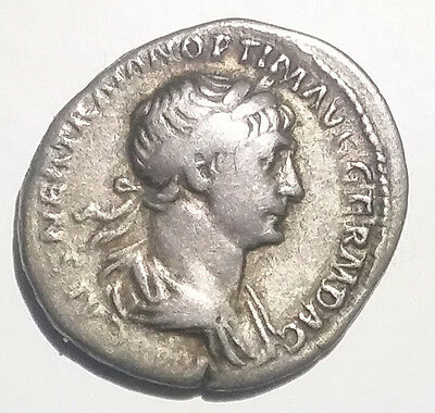 Ancient Roman Empire Silver Coin Trajan 98AD-117AD Fortuna Redux Scarcer Issue
