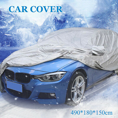 4.9M Size L Full Car Cover UV Protection Waterproof Outdoor Indoor Breathable