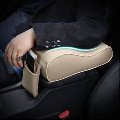 Leather Car SUV Center Box Armrest Console Soft Pad Cushion Cover Beige For BMW
