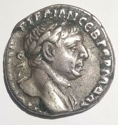 Ancient Roman Empire Silver Coin Trajan 98AD-117AD AR Drachm Scarcer Issue