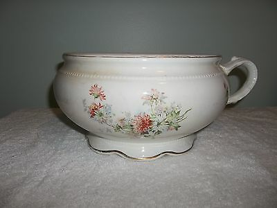 Antique W. S. George Queen Floral Chamber Pot