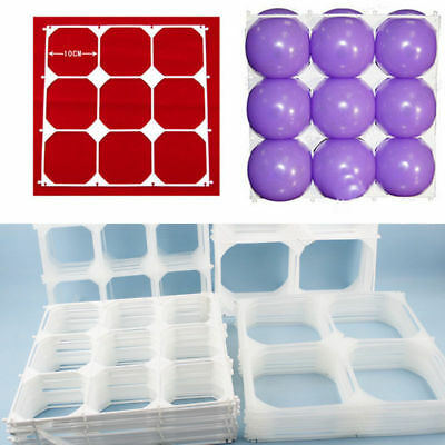 50x Balloon Square 9 Grid Modeling Party Balloons Grids Wall Wedding Decoration