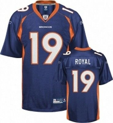 NFL Authentic ONFIELD Jersey Trikot DENVER BRONCOS Eddie Royal 19 navy Football