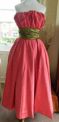 Original 1940's or early 1950's Doree Leventhal evening dress / ball gown 6-8
