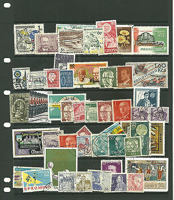Europe   5  stacked stock sheets collection stamps for the collector