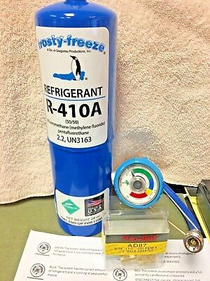 """410A, R410a, R-410a, Refrigerant Refill Kit Gauge & Special 5/16"""" Charging Hose"""
