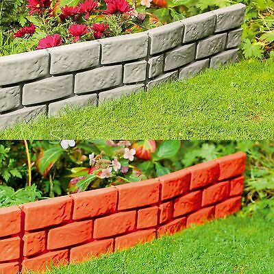 Brick Effect - Garden Edging Patio Plastic Hammer In Border Path Driveway Grass