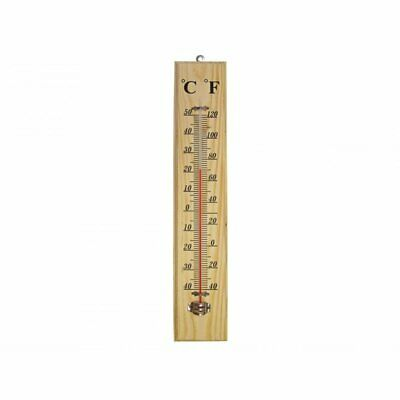 Faithfull FAITHWOODLG Wood 400mm Wall Thermometer