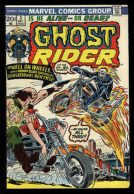 Ghost Rider (1973) #3 1st Print 1st New Hell-Fire Cycle Son Of Satan Mooney VG
