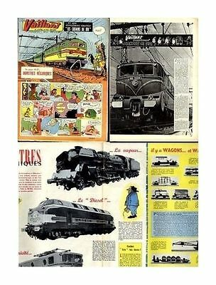 Vaillant   N°    756   1959 N° Supplement Train 8 Pages Be/be+