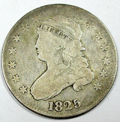 1825/4 United States Capped Bust Quarter - VG Very Good Condition