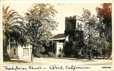 1920s San Gabriel California Presbyterian Church Upland RPPC real Photo 3207