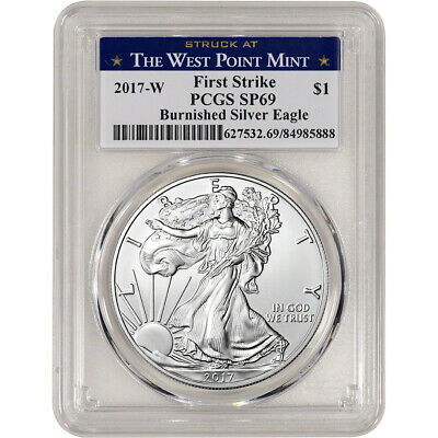 2017-W American Silver Eagle Burnished - PCGS SP69 - First Strike WP Label