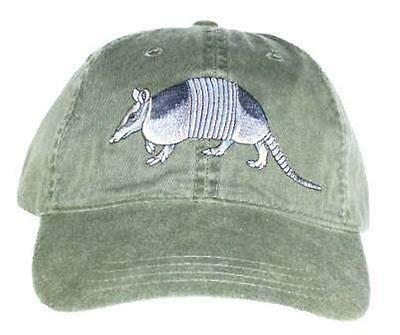Armadillo Embroidered Cotton Cap NEW Wildlife