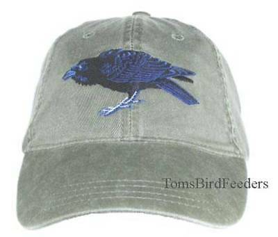 Raven Embroidered Cotton Cap NEW Bird Hat