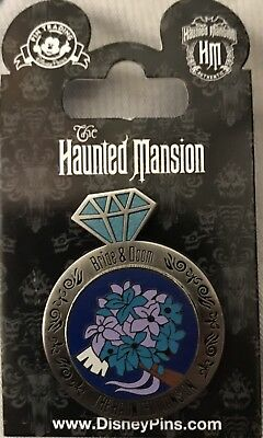 Disney Parks Haunted Mansion Bride & Doom Swivel Ring Pin NEW ON CARD WDW