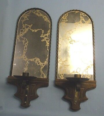 """HomCo . Mirrored Wall Sconce s . Pair . 17 1/2""""T"""