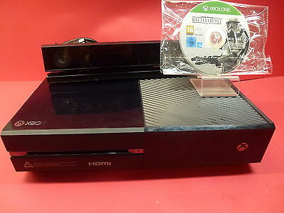 Microsoft Xbox One 500Gb Kinect Console Black With Game