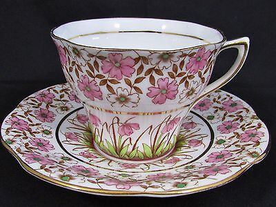 Rosina Pink And White Floral Chintz Tea Cup And Saucer
