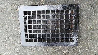 Antique VICTORIAN Cast Iron Floor Grille 13x10 Heat Grate Register with Louvers